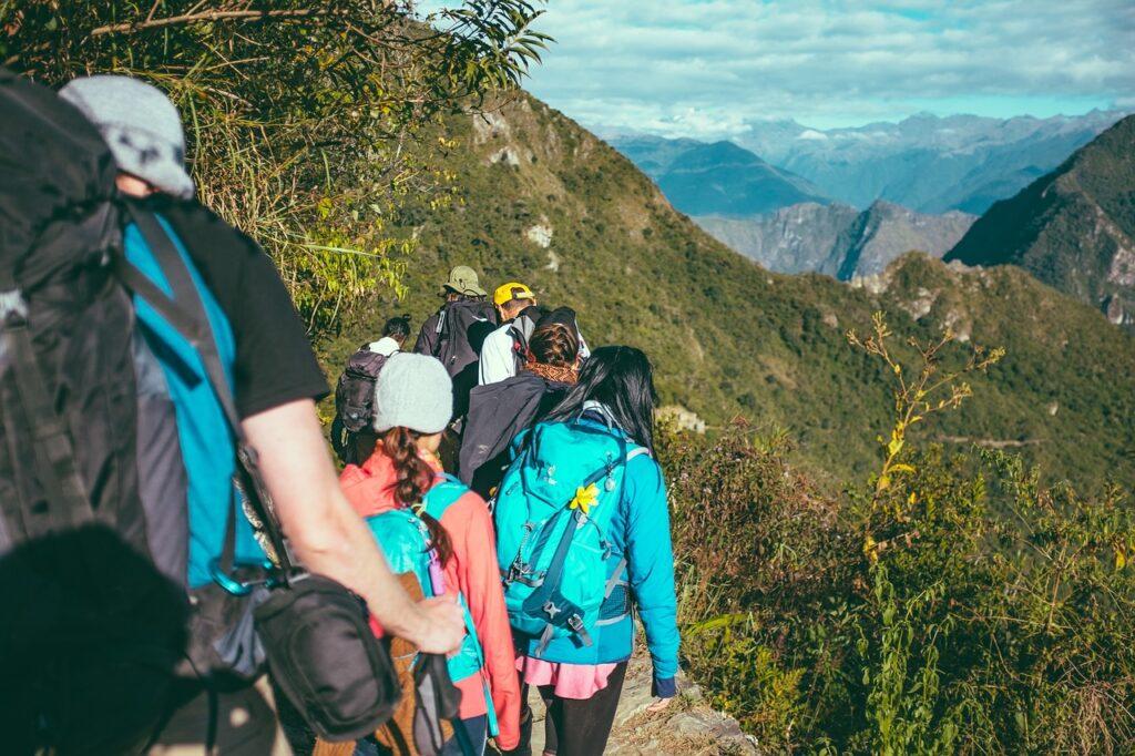 hiking, adventure, clouds, exploration