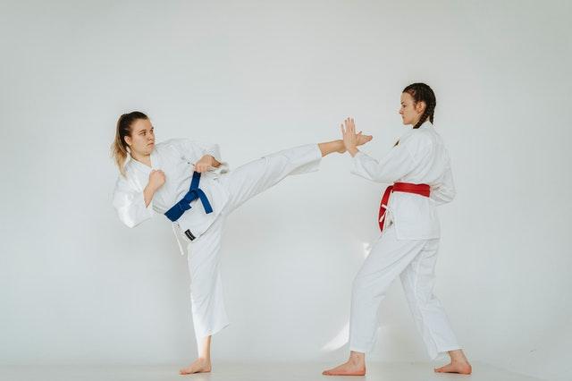 Karate Drilling at a Martial Arts School